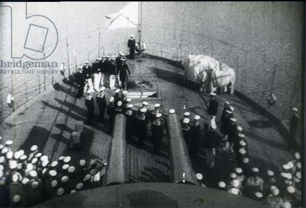 Scene from the film Battleship Potemkin by Sergei Eisenstein by Anonymous. Photograph, 1925. Private Collection