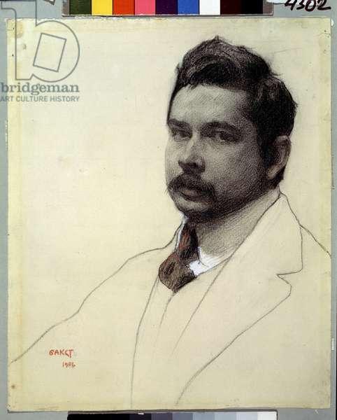 Portrait of the artist Konstantin Somov (pencil and chalk on paper)