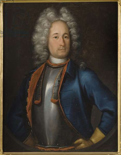 Portrait of the Admiral Olof Stromstierna (1664-1730), by Wedekind, Johann-Heinrich (1674-1736). Oil on canvas, 1715. Dimension : 85x67 cm. Nationalmuseum Stockholm