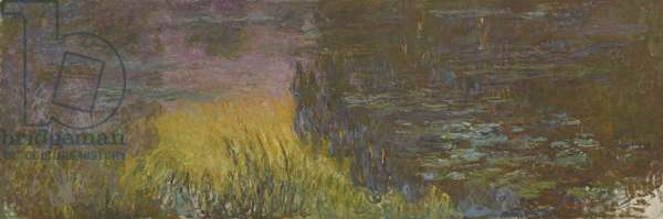 The Water Lilies - Setting Sun, 1914-26 (oil on canvas)