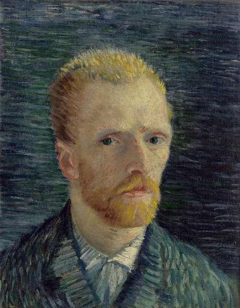 Self-Portrait par Gogh, Vincent, van (1853-1890). Oil on canvas, size : 42,2x34,5, 1887, Van Gogh Museum, Amsterdam