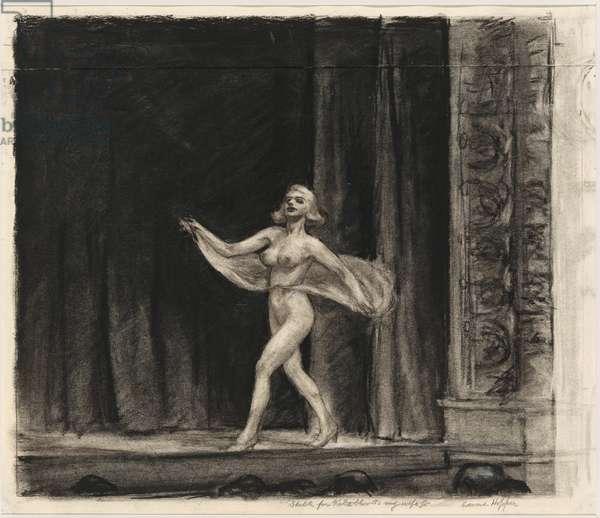 """Etude pour """"""""The girlie show"""""""" Dessin de Edward Hopper (1882-1967) 1941 Whitney Museum of American Art, New York  Attention! L'utilisation de cette oeuvre peut etre soumise a une demande d'autorisation a un tiers ou au paiement de droits supplementaires"""