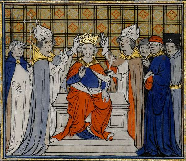 The Anointing and Coronation of Louis IV at Laon, 19 June 936