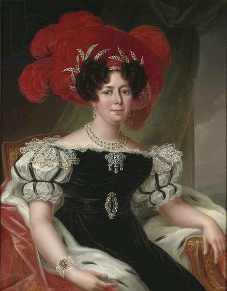 Desire Clary, reine consort de Suede et Norvege - Portrait of Desideria (1777-1860), Queen of Sweden and Norway, by Westin, Fredric (1782-1862). Oil on canvas, 1830. Dimension : 96x72 cm. Nationalmuseum Stockholm