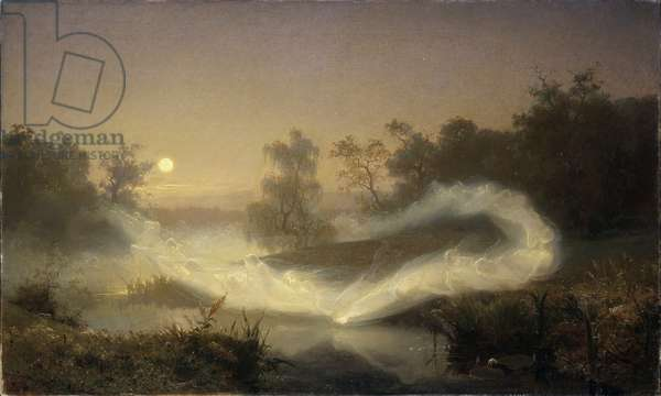 la danse des elfes - Malmstroem, August (1829-1901)  Oil on canvas 1866 Nationalmuseum Stockholm 90x149
