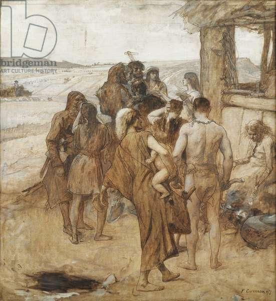 Bronze Age - Peinture de Fernand Cormon (1845-1924), 1897 - Mixed media on canvas, 80,5x74,5 - Private Collection