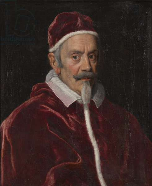 Pape Alexandre VII (Fabio Chigi) - Portrait of the Pope Alexander VII (1599-1667), by Gaulli (Il Baciccio), Giovanni Battista (1639-1709). Oil on canvas. Dimension : 67x56 cm. Nationalmuseum Stockholm