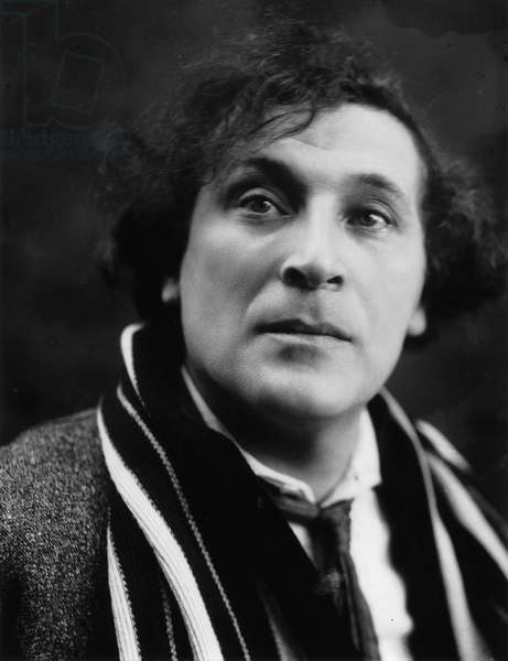 Portrait of the Artist Marc Chagall (1887-1985), by Shumov, Pyotr Ivanovich (1872-1936). Photograph, End 1920s. Russian State Archive of Literature and Art, Moscow