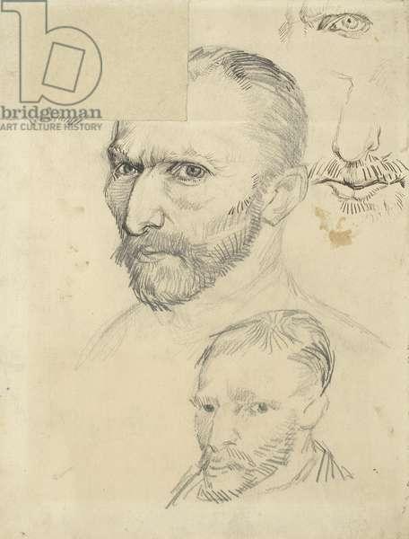 Self-Portraits par Gogh, Vincent, van (1853-1890), 1887 - Pencil on Paper, 31,5x24,5 cm - Van Gogh Museum, Amsterdam