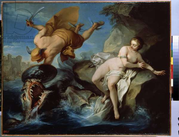Perseus and Andromeda (oil on canvas)