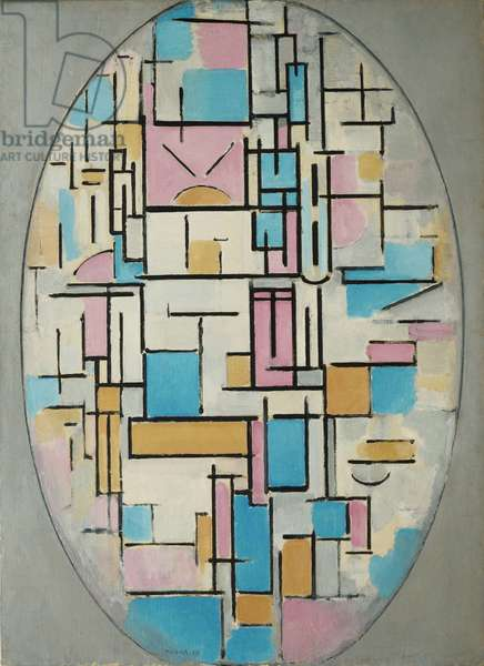 Composition in Oval with Color Planes 1, 1914 (oil on canvas)