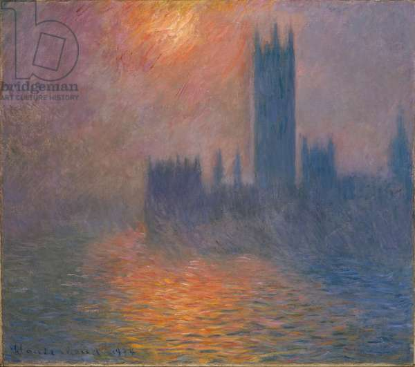 Houses of Parliament, sunset, 1904 (oil on canvas)
