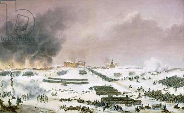 Campaign of Prussia and Poland (1806-1807) - Simeon Jean Antoine Fort (1793-1861): Battle of Eylau, attack of the cemetery 7 February 1807, Musee de la Histoire de France, Chateau de Versailles