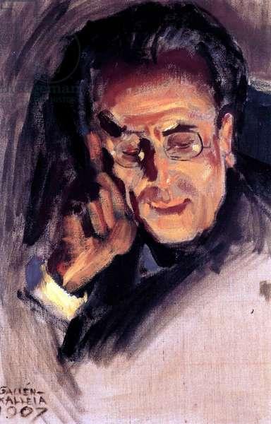 Portrait of Gustav Mahler, 1907 (oil on canvas)