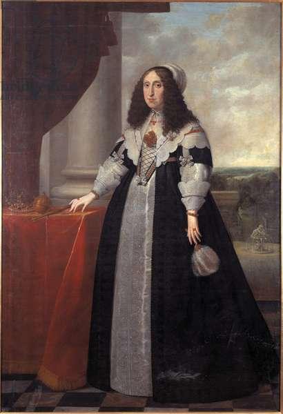 L'archiduchesse Cecile Renee d'Autriche, reine de Pologne - Portrait of Archduchess Cecilia Renata of Austria (1611-1644), Queen of Poland, by Danckers de Rij, Peeter (c. 1605-1661). Oil on canvas, 1643. Dimension : 212x145 cm. Nationalmuseum Stockholm