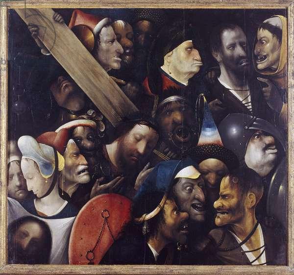 Christ carrying the Cross - Peinture de Hieronymus (Jerome, Jheronimus) Bosch (c. 1450-1516) - 1515-1516 - Oil on wood - 76,7x83,5 - Museum voor Schone Kunsten, Ghent