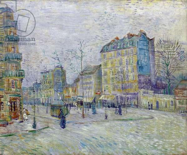 Boulevard de Clichy - peinture de Vincent Van Gogh (1853-1890) - Oil on canvas 1887 - Van Gogh Museum, Amsterdam