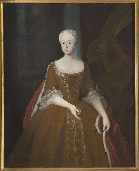 Princesse Frederique Louise de Prusse - Portrait of Princess Friederike Luise of Prussia (1714-1784), Margravine of Brandenburg-Ansbach, Anonymous . Oil on canvas, 1725-1730. Dimension : 141x111 cm. Nationalmuseum Stockholm