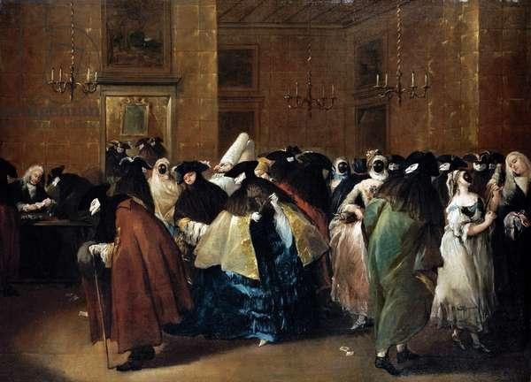 Casino (Il ridotto) in Venice - Guardi, Francesco (1712-1793) - Oil on canvas - 77,5x107,5 - Private Collection