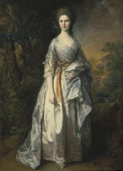 Maria Marowe (nee Wilmot), Lady Eardley de Spalding - Lady Maria Eardley of Spalding (1743-1794), by Gainsborough, Thomas (1727-1788). Oil on canvas. Dimension : 215x149 cm. Nationalmuseum Stockholm
