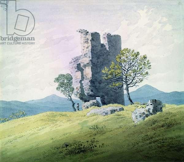 The Castle in Teplitz (w/c on paper)