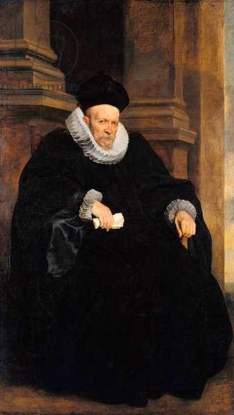 """""Portrait du gentilhomme genois"""" (Portrait of a Genovese Gentleman) Peinture d' Anthonis van Dyck (1599-1641) Oil on canvas c 1621 Dim 203x117,3 cm Staatliche Museen, Berlin"