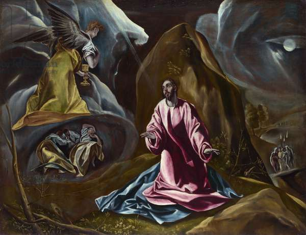 Agonie dans le jardin des oliviers - The Agony in the Garden - El Greco, (Studio of) - 1590s - Oil on canvas - 102x131 - National Gallery, London