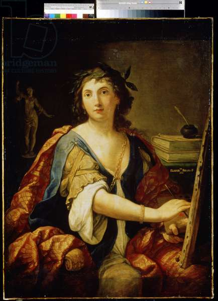 Allegory of painting, self portrait, 1658 (oil on canvas)