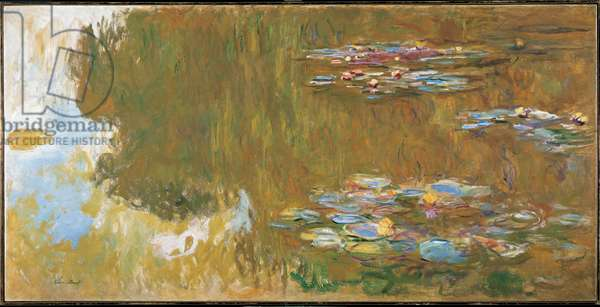 The Water Lily Pond, c.1917-19 (oil on canvas)