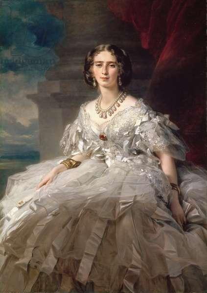 Princesse Tatiana Youssoupov (Ioussoupov, Youssoupoff ) - Portrait of Princess Tatiana Yusupova (1828-1879), by Winterhalter, Franz Xavier (1805-1873). Oil on canvas, c. 1858. Dimension : 148x104 cm. State Hermitage, St. Petersburg
