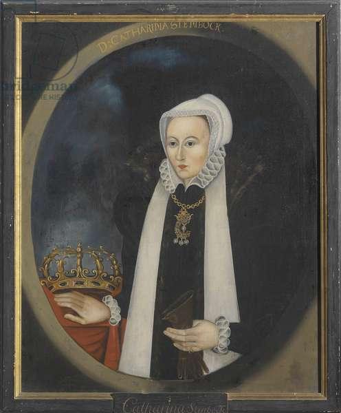 Catherine Stenbock, reine de Suede - Portrait of Catherine Stenbock (1535-1621), Queen of Sweden, Anonymous . Oil on canvas. Dimension : 100x80 cm. Nationalmuseum Stockholm