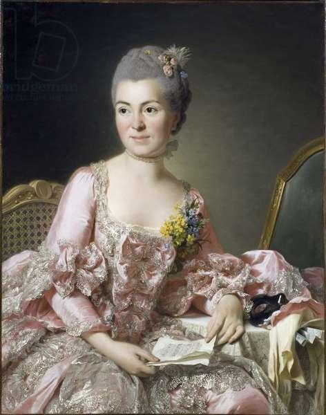 Portrait of Marie Suzanne (Marie-Suzanne) Giroust, Madame Roslin (1734-1772) Peinture de Roslin, Alexander (Alexandre) (1718-1793), 1770 - Oil on canvas - Nationalmuseum Stockholm