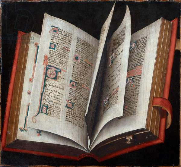An Opened Liturgical Book - Anonymous - c. 1525 - Oil on wood - Art History Museum, Vienne