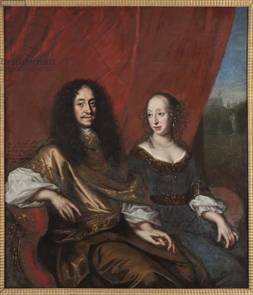 Gustave Adolphe de Mecklembourg Gustrow et Madeleine Sibylle de Holstein Gottorp - Gustav Adolph (1633-1695), Duke of Mecklenburg-Guestrow and Magdalene Sibylle of Holstein-Gottorp (1631-1719), by Ehrenstrahl, David Kloecker (1629-1698). Oil on canvas. Dimension : 146x128 cm. Nationalmuseum Stockholm
