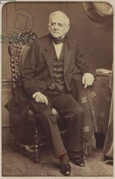 Portrait of the composer Daniel-Francois-Esprit Auber (1782-1871), by Cremiere, Leon (1831-1913). Albumin Photo. Private Collection