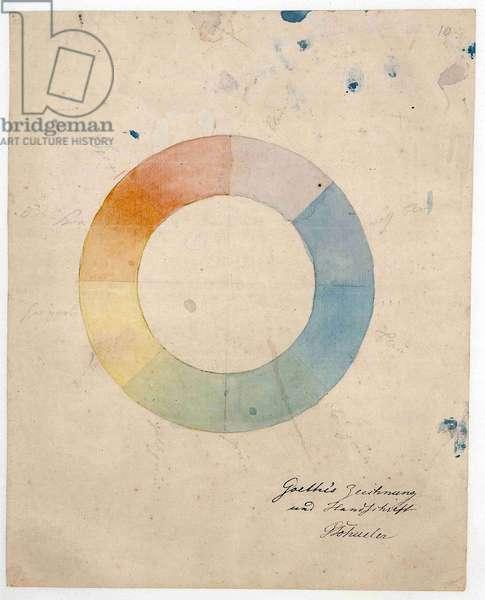 Romanticism : Eight part color wheel par Goethe, Johann Wolfgang von (1749-1832), 1829.