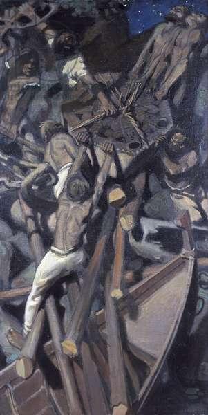 L'enlevement du Sampo - The Abduction of Sampo - Akseli Gallen-Kallela (1865-1931). Oil on canvas, 1905. Dimension : 103x65 cm Malmoe Konstmuseum