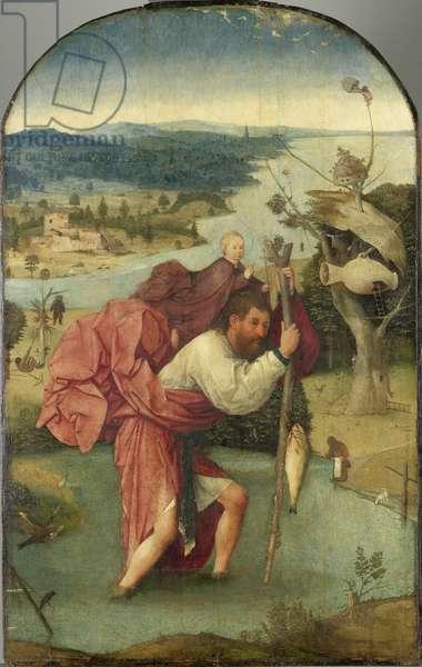 Saint Christopher, 1490 (oil on panel)