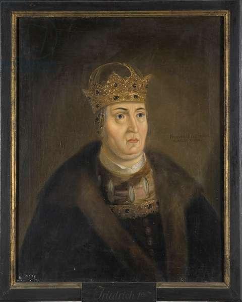 Le roi Frederic I de Danemark (Frederic de Schleswig Holstein) - Portrait of King Frederick I of Denmark (1471-1533), Anonymous . Oil on canvas. Dimension : 84x68 cm. Nationalmuseum Stockholm