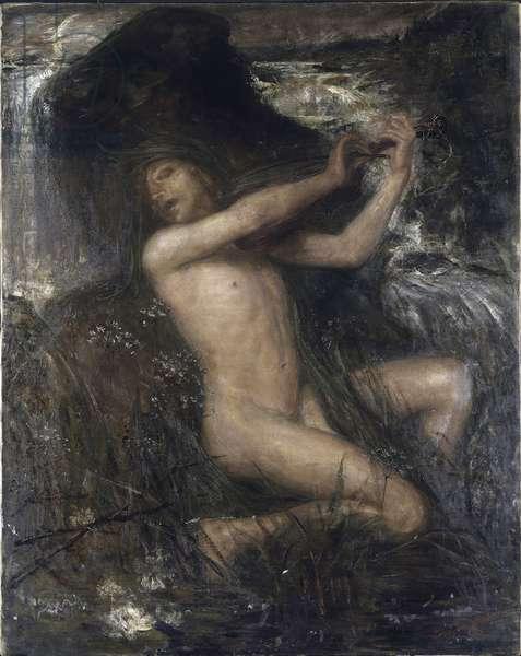 Nixe (Nix, Neck, Necker, Nacken  ou Naecken) par Josephson, Ernst (1851-1906), 1882 - Oil on canvas, 144x114 - Nationalmuseum Stockholm