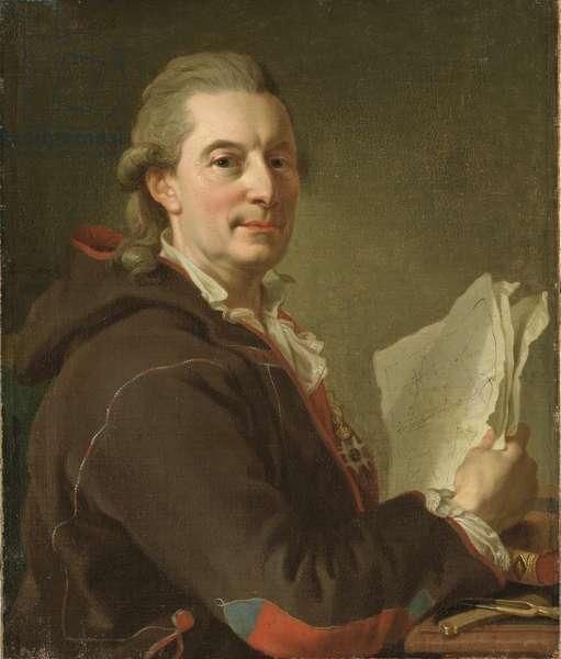 Frederic Henry de Chapman, marin suedois - Portrait of Fredrik Henrik af Chapman (1721-1808), by Pasch, Lorenz, the Younger (1733-1805). Oil on canvas, 1778. Dimension : 73x62 cm. Nationalmuseum Stockholm