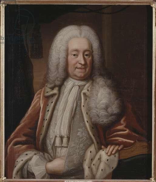 Carl Gyllenborg, homme d'etat suedois - Portrait of Count Carl Gyllenborg (1679-1746), by Pasch, Lorenz, the Elder (1702-1766). Oil on canvas. Dimension : 93x79 cm. Nationalmuseum Stockholm