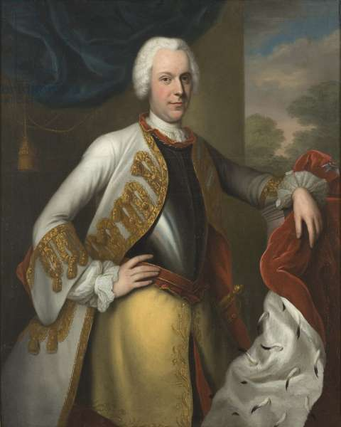 Adolphe Frederic de Suede - Portrait of Adolph Frederick (1710-1771), King of Sweden, by Denner, Balthasar (1685-1749). Oil on canvas. Dimension : 120x100 cm. Nationalmuseum Stockholm