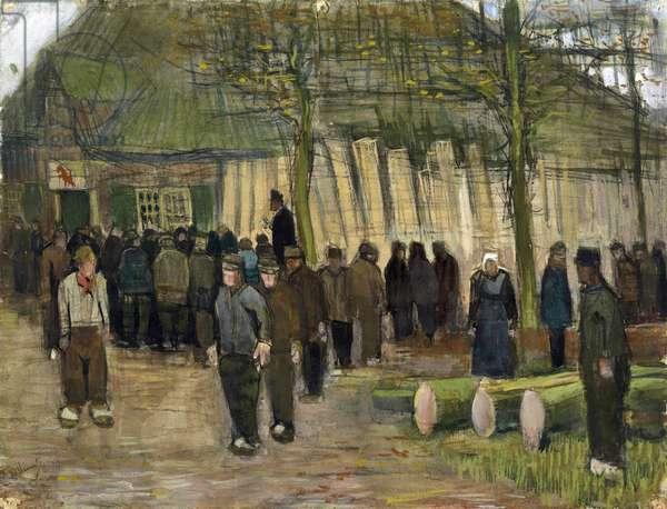 Timber sale (vente de bois) par Gogh, Vincent, van (1853-1890). Chalk, watercolor, pen and ink on paper, size : 34,9x44,8, 1884, Van Gogh Museum, Amsterdam