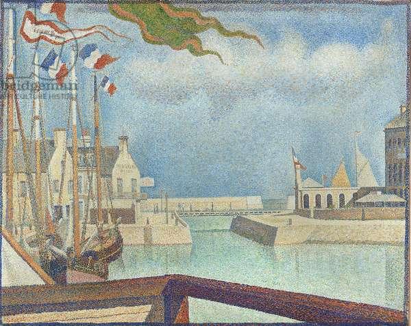 Sunday at Port-en-Bessin, 1888 (oil on canvas)