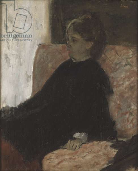 Femme en noir - Lady in Black, by Degas, Edgar (1834-1917). Oil on canvas. Dimension : 60x51 cm. Nationalmuseum Stockholm