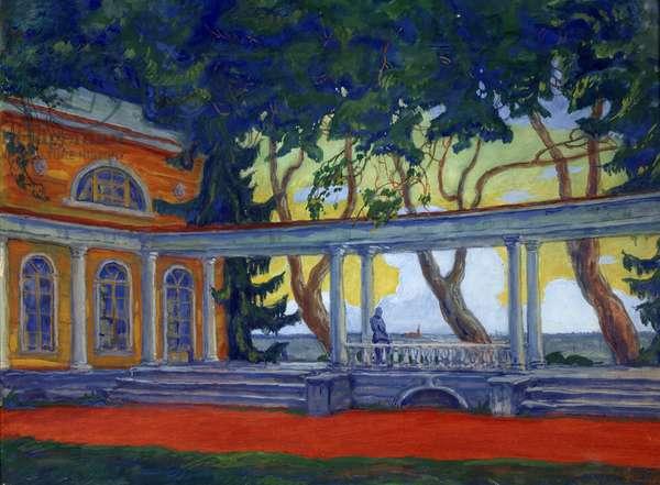 A terrace, 1916 (oil on canvas)