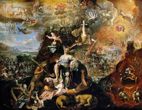 Baroque : Allegory (Apocalypse) par Heintz, Joseph, the Younger (ca 1600-after 1674), 1674. Oil on canvas, 175x150. Art History Museum, Vienne
