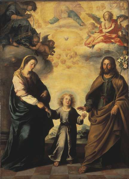 Le retour de la Sainte Famille d'Egypte - The Return of the Holy Family from Egypt, by Murillo, Bartolome Esteban (1617-1682). Oil on canvas. Dimension : 222x162 cm. Nationalmuseum Stockholm