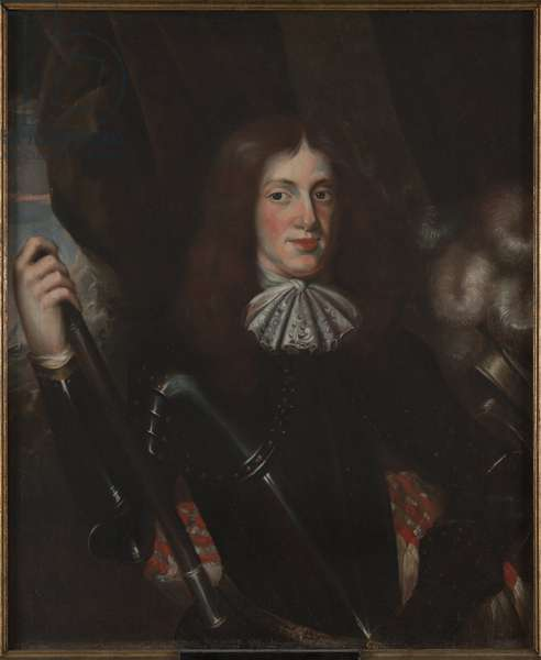 Frederic II Casimir Kettler, duc de Courlande Semigalie - Portrait of Frederick Casimir Kettler (1650-1698), Duke of Courland and Semigallia, Anonymous . Oil on canvas, Second Half of the 17th cen.. Dimension : 90x74 cm. Nationalmuseum Stockholm